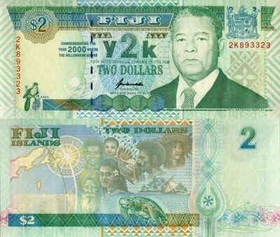 New Millennium commemorative banknote featuring Ratu Sir Penaia Ganilau.