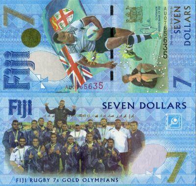 Fiji 7 Dollars, 2017, P-120, UNC