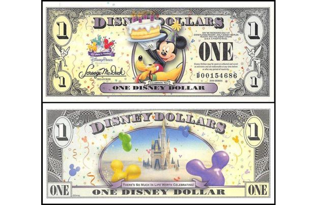 DISNEY DOLLAR BANKNOTE