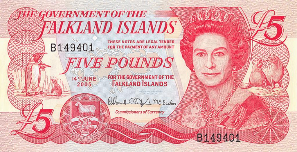 Falkland Islands 5 Pounds | P-17a | 2005