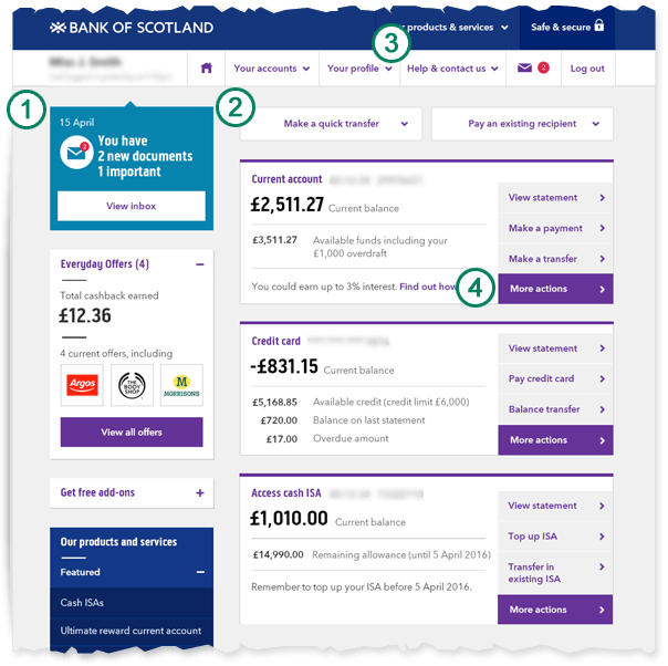 Bank Scotland Online Personal