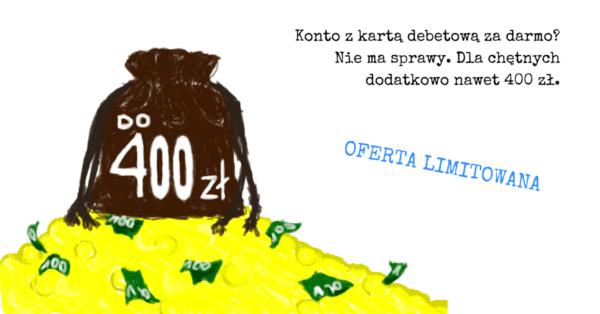 Darmowe Konto Optymalne (karta też) z premią 400 zł.