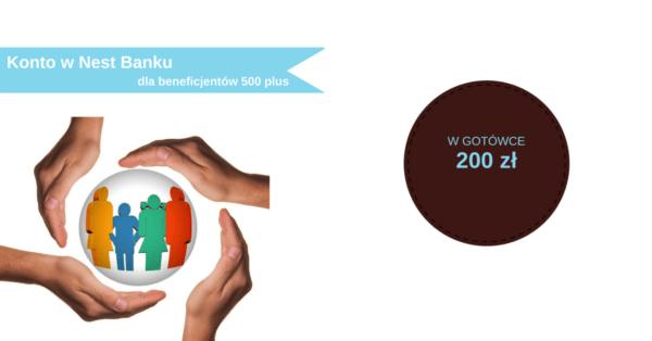 200 zł kieszonkowego w nagrodę za wpłatę świadczenia 500+ na konto w Nest Banku.