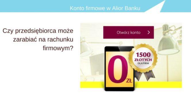 A dla prowadzących działalność Alior Bank przygotował konto firmowe z premią.