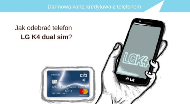 Darmowa karta kredytowa z telefonem (wartość prawie 500 zł).