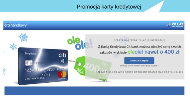 Darmowa karta kredytowa z bonem na 400 zł do sklepu RTV i AGD