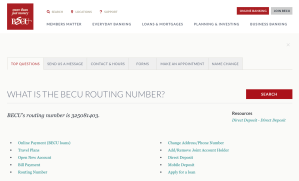 BECU Routing number and other support details