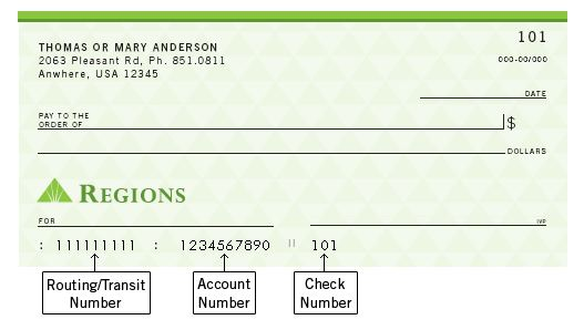 REGIONS BANK ROUTING NUMBER - Home