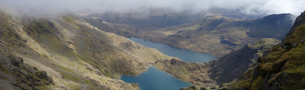 View from the top of Mount Snowdon, Wales