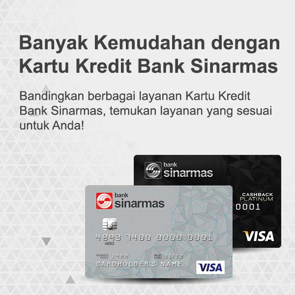 Hasil gambar untuk kartu kredit  bank sinarmas