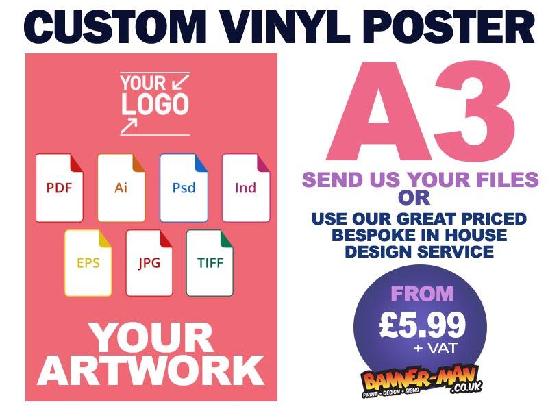 a3 custom vinyl poster