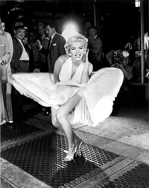 """Marilyn_Monroe, """"Seven Year Itch"""", 1955 ( photo: Sam Shaw, Shaw Family Archives© )"""