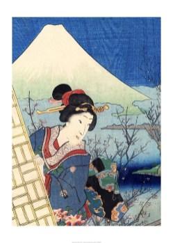 Japonaise et Mont Fuji, Bernard Allum, Banque de l'image