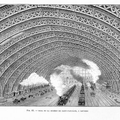 Anonyme, Interior of St Pancras Railway Station