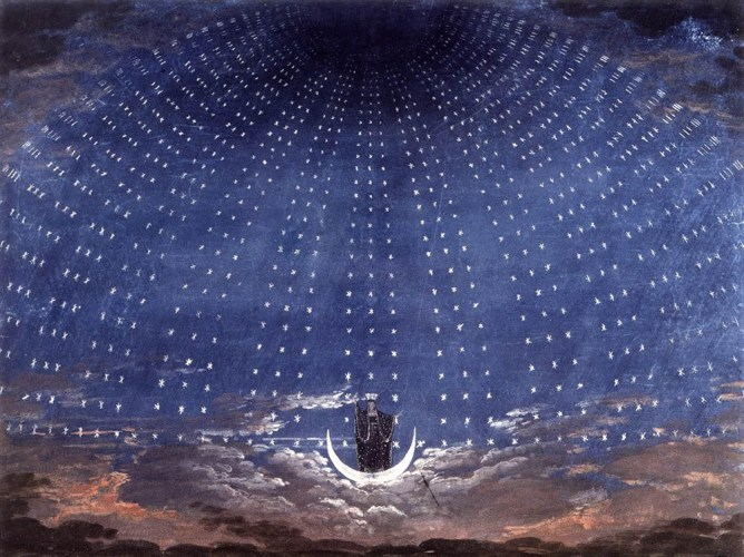 Karl Friedrich Schinkel, Stage set for Mozart's Magic Flute, 1815