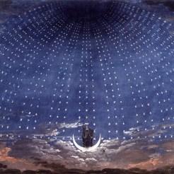 Karl Friedrich Schinkel, Stage set for Mozart's Magic Flute, 1815