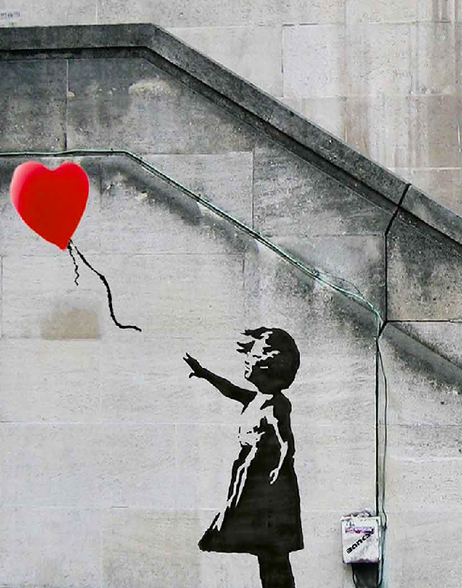 La Fillette au Ballon - Banksy, 2002