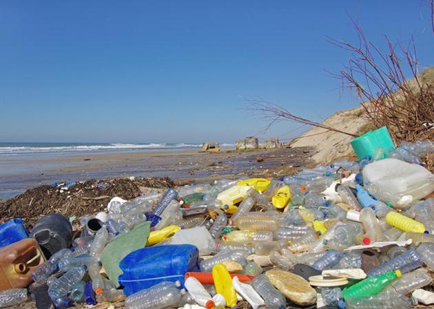 التلوث البلاستيكي في شواطئ