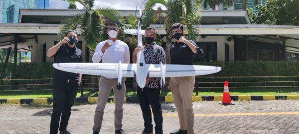 Tim Terra Drone Indonesia dan Quantindo bersama teknologi drone Quantum Trinity