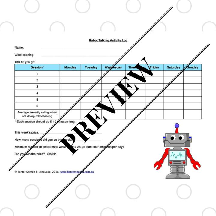 Robot Talking Activity Log