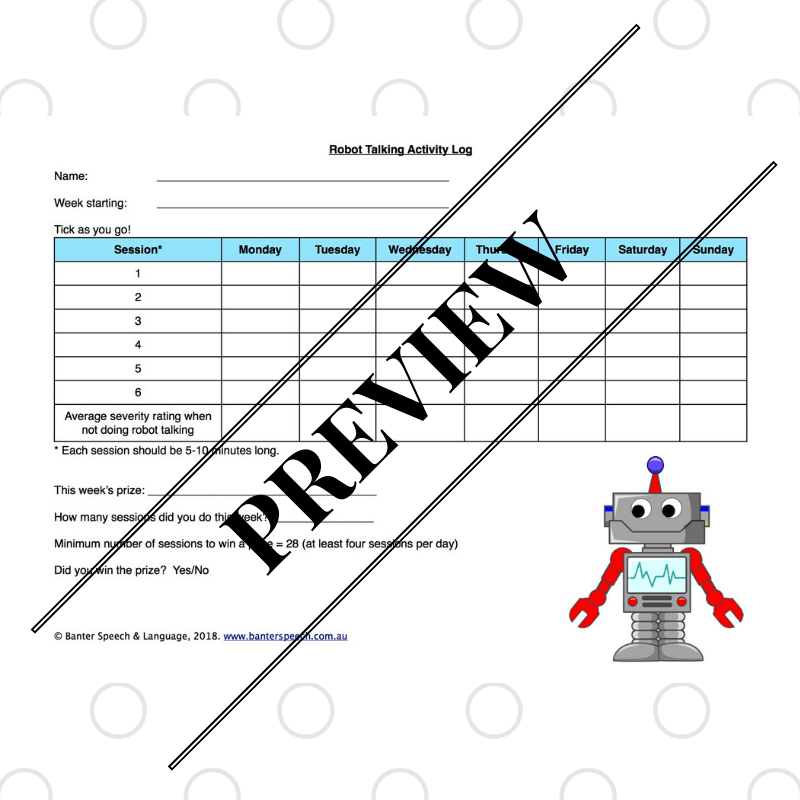 Robot Talking Activity Log