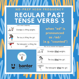 Regular Past Tense Verbs 3