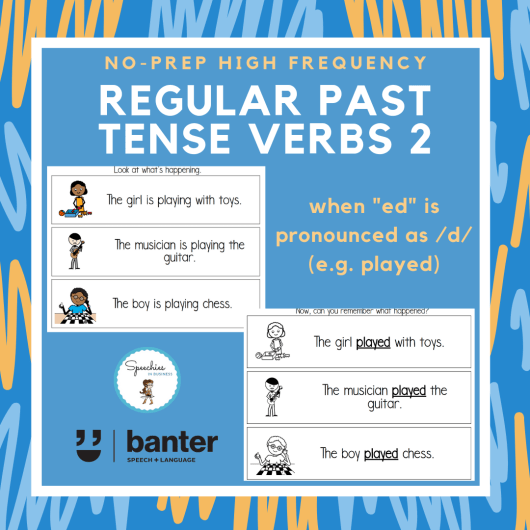Regular Past Tense Verbs 2