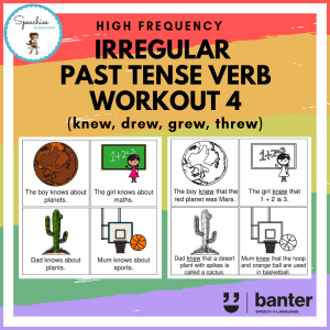irregular past tense verb work out 4