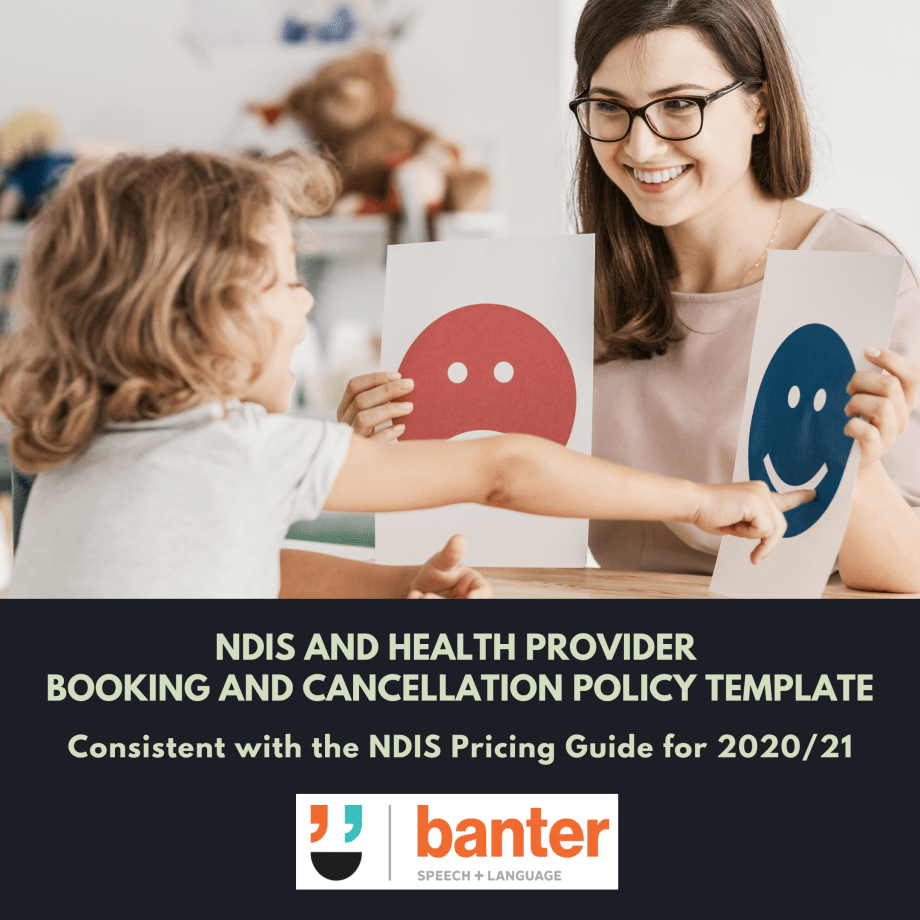 NDIS and Health Provider Booking and Cancellation Policy Template