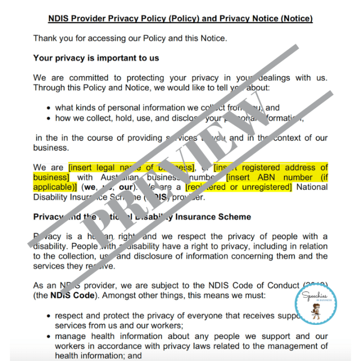 NDIS Provider Privacy Policy