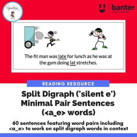 Split Digraph Minimal Pair Sentences a_e