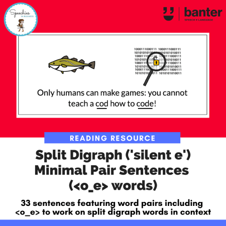 Split Digraph Minimal Pair Sentences o_e