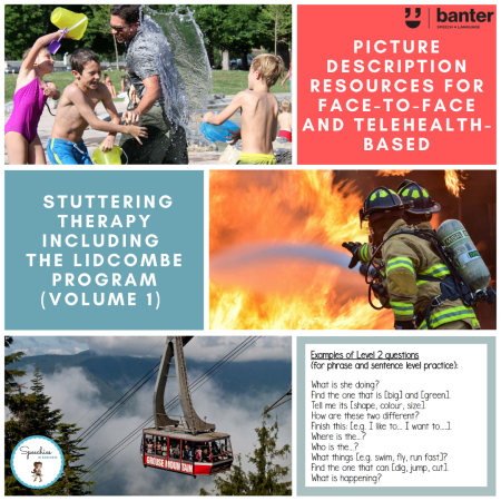 Picture description resource for stuttering therapy volume 1