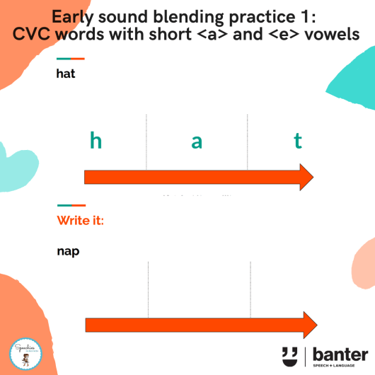 Early sound blending practice 1