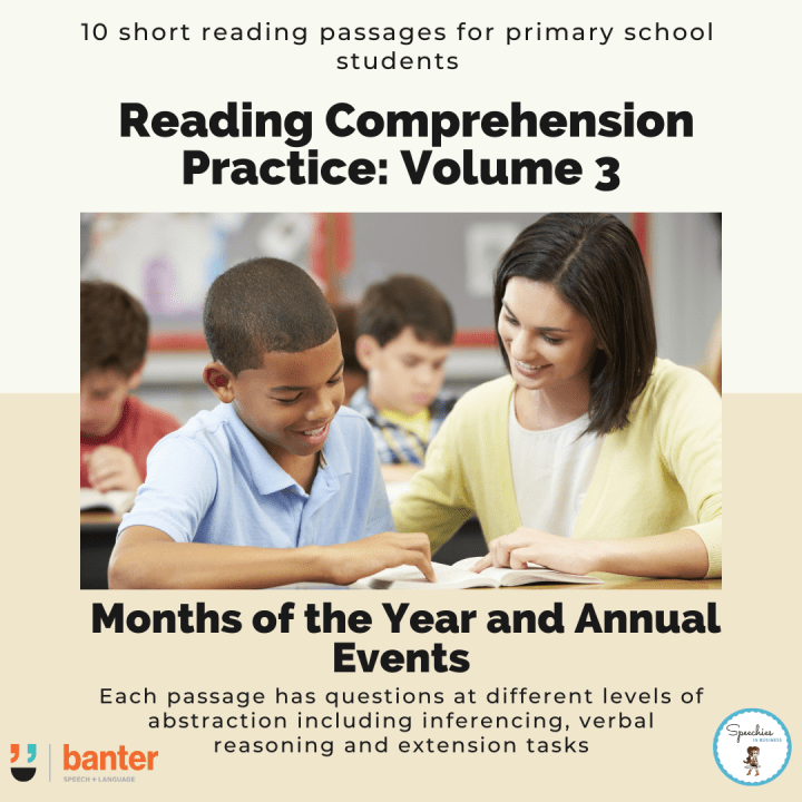 Reading Comprehension Practice Volume 3 Months of the Year and Annual Events