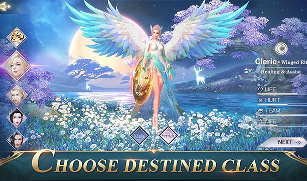 angel alado de cuerpo entero en un fondo épico