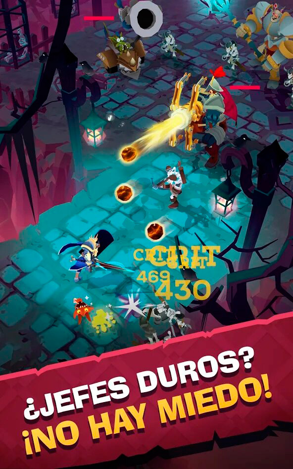 lucha contra jefe en the mighty quest
