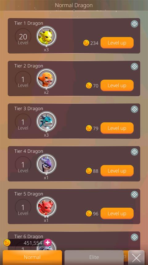 Dragon Sky ui