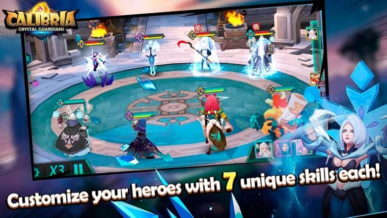 Gameplay en el juego Calibria: Crystal Guardians