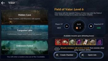 Portada del evento Field of Valor en Black Desert Mobile