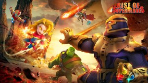 Portada del juego Rise of Superheroes