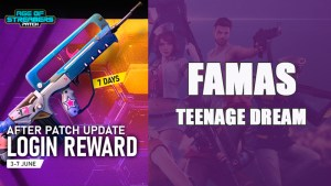 Arma Famas Teenage Dream gratis en Free Fire