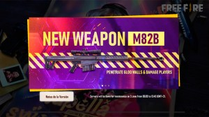 Rifle sniper M82B en Free Fire