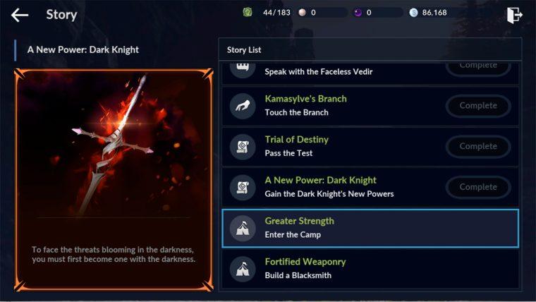 Black desert mobile misiones de historia para el despertar de equipo