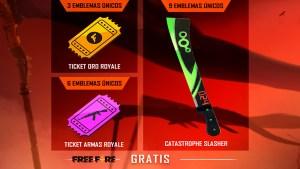 free fire evento gira y colecciona emblemas