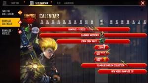 free fire calendario del evento revolución.