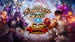 summoners war street fighter v champion edition portada