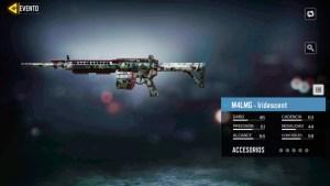 Arma M4LMG Iridescent en Call of Duty Mobile