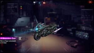 Motocicleta Cazarrecompensas Cibernetico en Free Fire