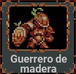 Guerrero de madera en Loop Hero